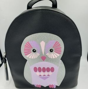 💛T Shirt and Jeans owl small backpack. Black.